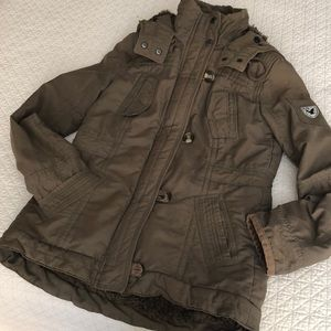 American Eagle Outfitters Olive parka coat size S